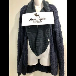Abercrombie & Fitch Navy Cardigan - S